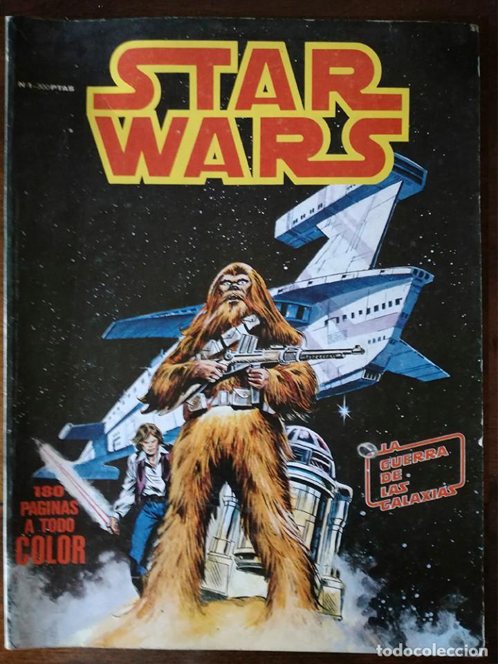 Cómics: STAR WARS Nº 1-2-3-4-5 Y QUE HA SIDO DE JABBA EL HUT? VÉRTICE RETAPADO SURCO COLOR-1983 - Foto 2 - 139256454