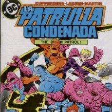 Cómics: LA PATRULLA CONDENADA #9, ZINCO, 1.988. Lote 140210386