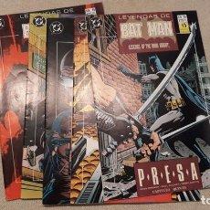 Cómics: LEYENDAS DE BATMAN 11-15: PRESA, DOUG MOENCH / PAUL GULACY. Lote 140598686