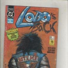 Cómics: LOBO-DC-ZINCO-SERIE DE 4Nº-AÑO 1992-EL REGRESO-FORMATO GRAPA-Nº 1. Lote 141687930