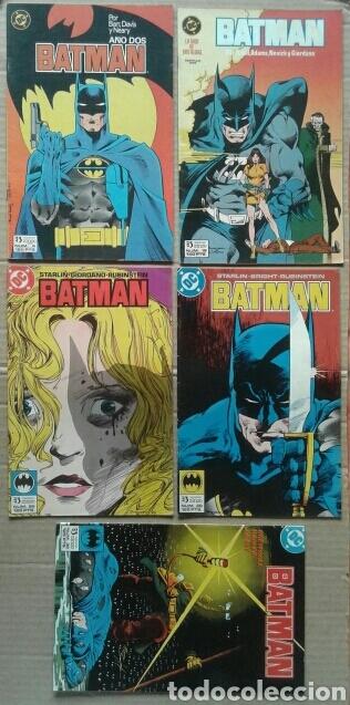 LOTE BATMAN: NÚMEROS 4-19-29-30-32 (EDICIONES ZINCO, 1987-1998). 28/36 PÁGINAS A COLOR CADA EJEMPLAR (Tebeos y Comics - Zinco - Batman)