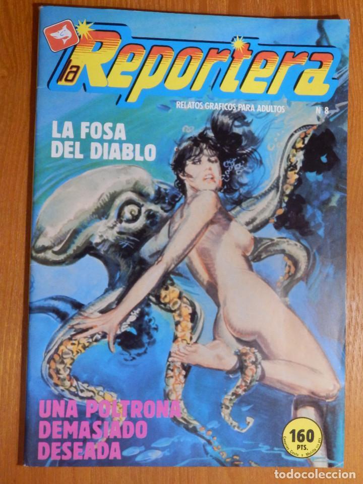 COMIC - ERÓTICO PARA ADULTOS - REPORTERA Nº 8 - LA FOSA DEL DIABLO - EDICOMIC (Tebeos y Comics - Zinco - Otros)