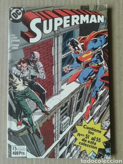 RETAPADO SUPERMAN N°19: NÚMEROS 51-52-53-54-55 (EDICIONES ZINCO, 1988-1989). (Tebeos y Comics - Zinco - Retapados)