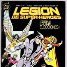 Cómics: LEGION DE SUPER HEROES. Nº 5. ESPECIAL ELECCIONES. ZINCO, AÑO 1987. Lote 143160944