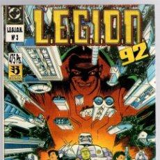 Cómics: LEGION 92. Nº 3. CONTIENE LOS NUM. 11 AL 15 DE LA COLECCION. AÑO 1991. Lote 143161561