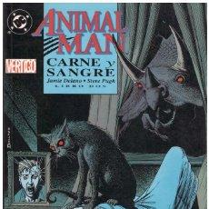Cómics: ANIMAL MAN. JAMIE DELANO PUGH BRIAN BOLLAND CARNE Y SANGRE. OBRA COMPLETA. 3 TOMOS. Lote 143710182