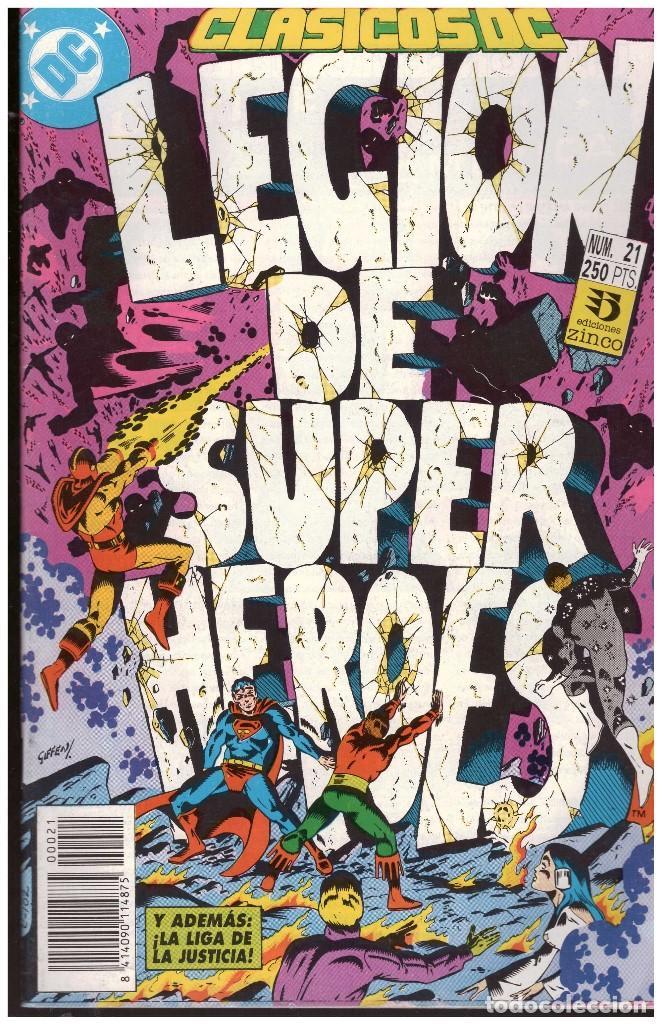 Cómics: LEGION DE SUPER HEROES. CLASICOS DC. 2 ESPECIALES 50 PAGINAS CADA UNO. EDCIONES ZINCO - Foto 2 - 194763460