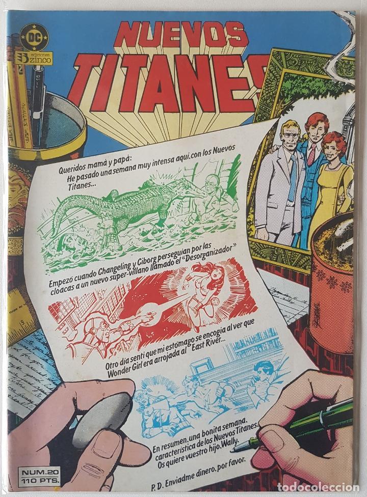 NUEVOS TITANES #20 (ZINCO, 1985) (Tebeos y Comics - Zinco - Nuevos Titanes)