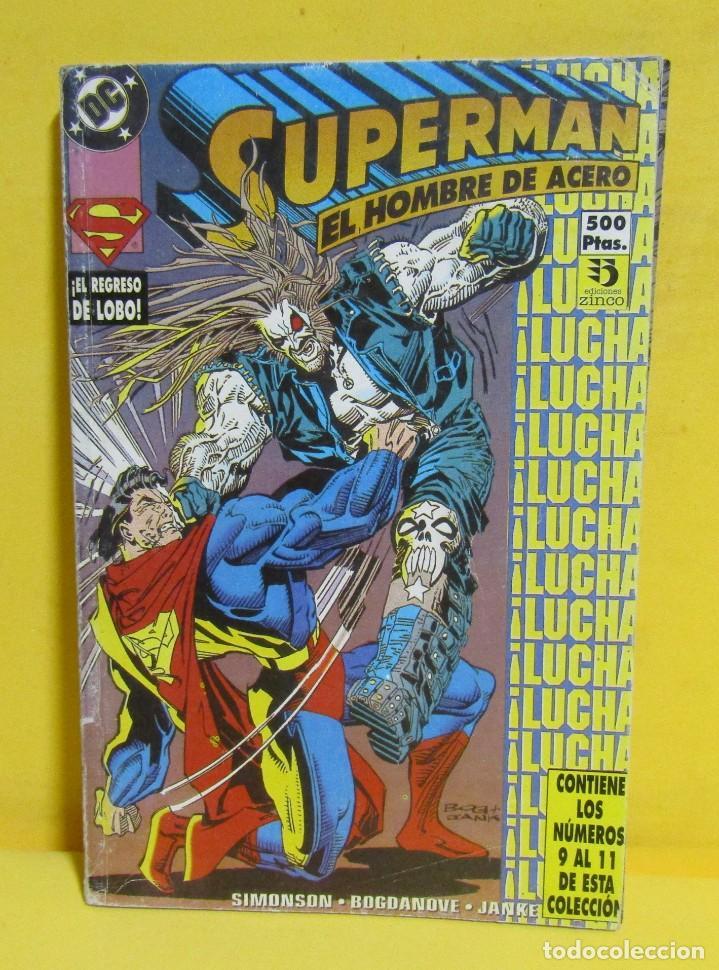 Cómics: SUPERMAN EL HOMBRE DE ACERO SIMONSON / BOGDANOVE / JANKE Nº 40 EDIC. ZINCO CONTIENE DEL Nº 9 AL 11 - Foto 3 - 145218314