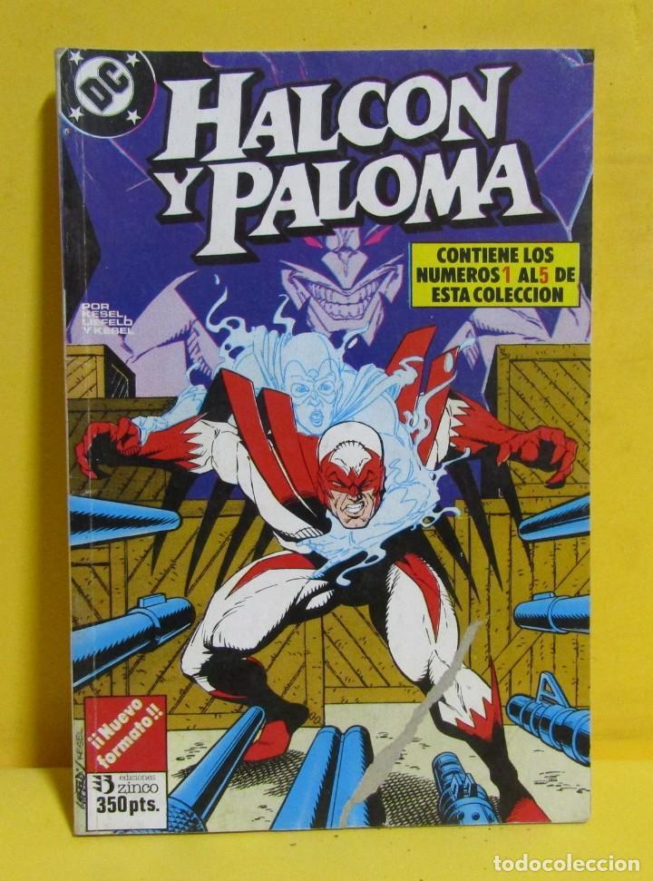 HALCON Y PALOMA EDICIONES ZINCO RETAPADOS CONTIENE LOS NUMEROS DEL 1 AL 5 AÑOS 80 (Tebeos y Comics - Zinco - Retapados)