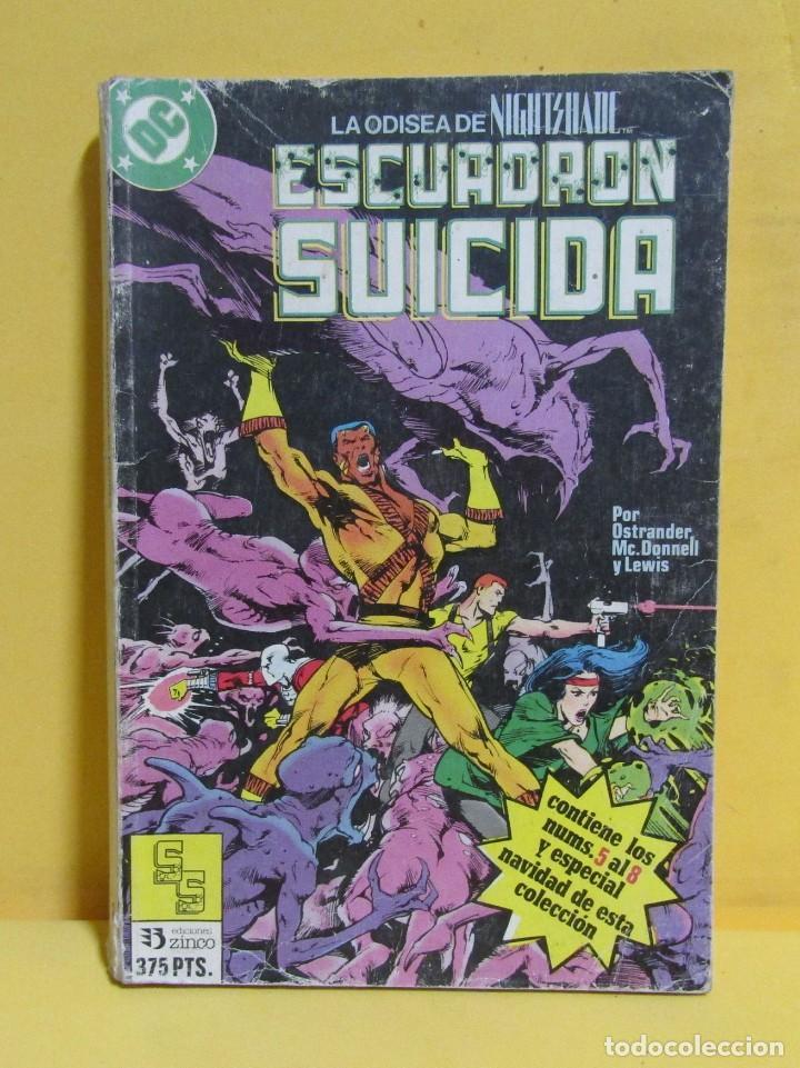 ESCUADRON SUICIDA TOMO 2 EDICIONES ZINCO RETAPADOS CONTIENE LOS NUMEROS DEL 5 AL 8 AÑOS 80 (Tebeos y Comics - Zinco - Retapados)