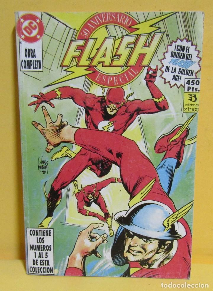 FLASH 50 ANIVERSARIO EDICIONES ZINCO RETAPADO CONTIENE LOS NUMEROS DEL 1 AL 5 AÑOS 80 (Tebeos y Comics - Zinco - Retapados)