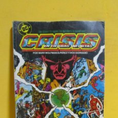 Cómics: CRISIS EN TIERRAS INFINITAS TOMO 1 EDICIONES ZINCO RETAPADO CONTIENE LOS NUMEROS DEL 1 AL 4 AÑOS 80. Lote 145301362