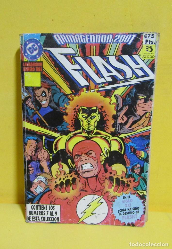 ARMAGEDON 2001 FLASH TOMO Nº 5 RETAPADO EDIC. ZINCO S.A. CONTIENE LOS NUMEROS DEL 7 AL 9 AÑOS 80 (Tebeos y Comics - Zinco - Batman)