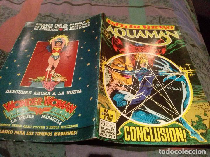 AQUAMAN ESPECIAL,VERANO COPLETA 1 Y 2 ZINCO, 1988 (Tebeos y Comics - Zinco - Otros)