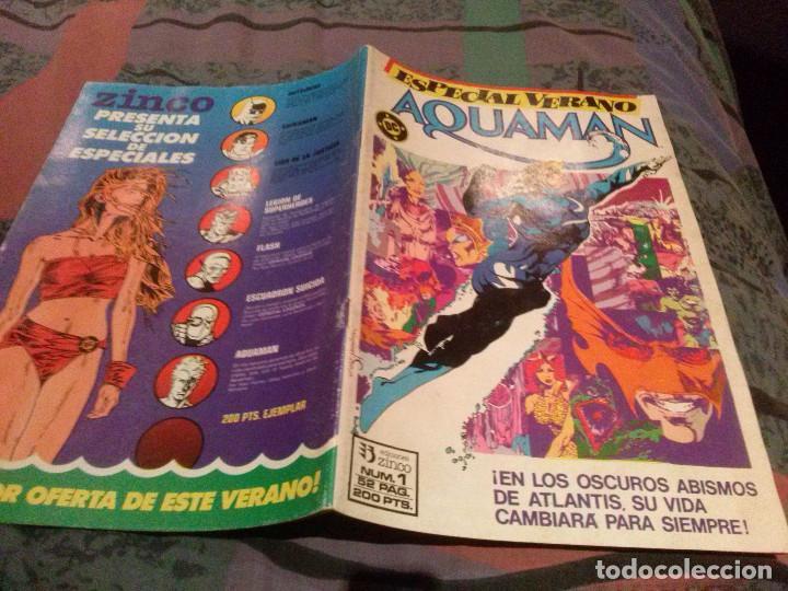 Cómics: AQUAMAN ESPECIAL,VERANO COPLETA 1 Y 2 ZINCO, 1988 - Foto 2 - 145512742