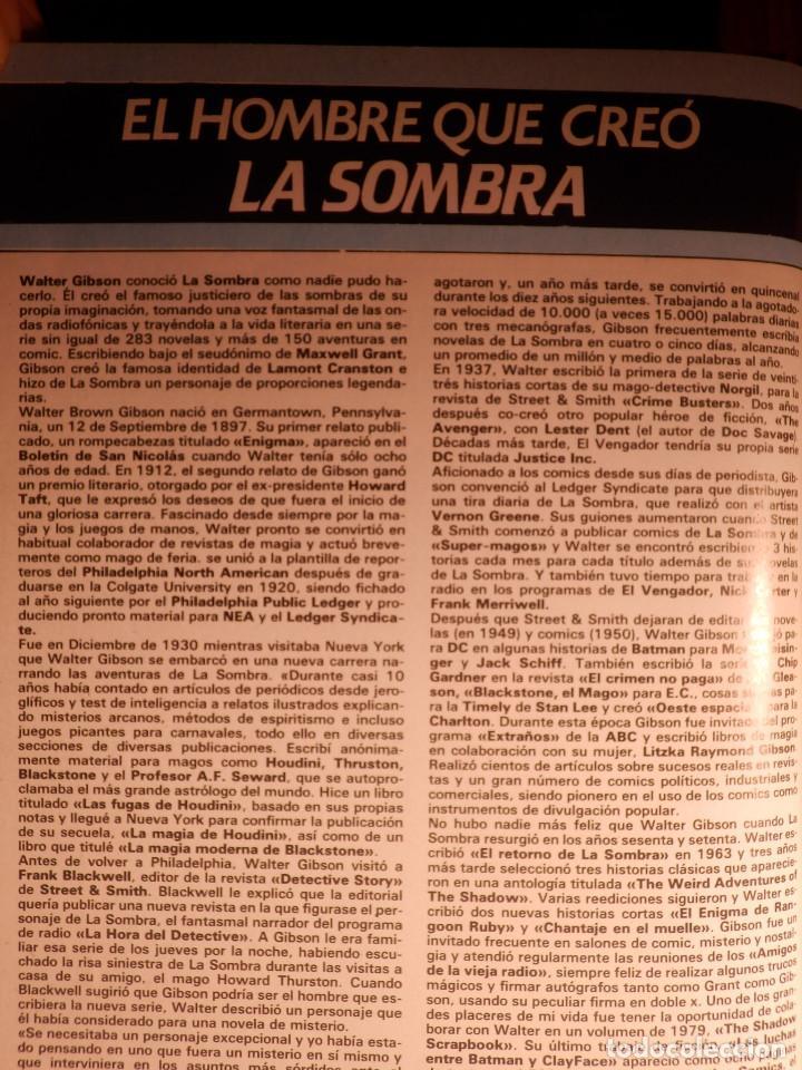 Cómics: Comic - Shadow - La Sombra - Los 4 Números encuadernados y mas - Zinco 1987 HOWARD CHAYKIN - Foto 3 - 222393790