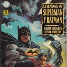 Cómics: LEYENDAS DE SUPERMAN Y BATMAN - LIBRO UNO - EDICIONES ZINCO. Lote 145754618
