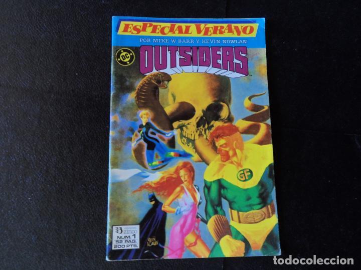 LOS OUTSIDERS Nº 1 ESPECIAL VERANO EDICIONES ZINCO (Tebeos y Comics - Zinco - Outsider)