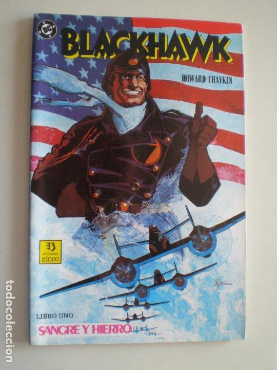 Cómics: BLACKHAWK - Howard Chaykin - COMPLETA TRES NUMEROS ZINCO / DC COMICS 1989 - Foto 2 - 145980166
