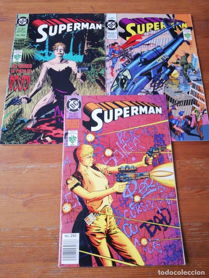 LOTE DE 3 COMICS SUPERMAN. NÚMEROS 250-251-252. MÉXICO. (Comics und Tebeos - Zinco - Superman)