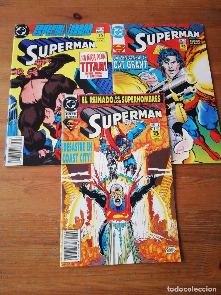 LOTE DE 3 COMICS SUPERMAN. NÚMEROS 3-6-8 (Comics und Tebeos - Zinco - Superman)