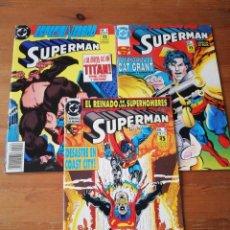 Cómics: LOTE DE 3 COMICS SUPERMAN. NÚMEROS 3-6-8. Lote 146219086