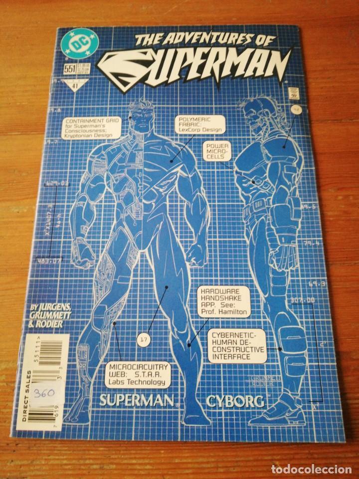 THE ADVENTURES OS SUPERMAN. NÚMERO 551 (Tebeos y Comics - Zinco - Superman)