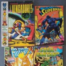 Cómics: LOTE COMICS LOS VENGADORES SUPERMAN LOS NUEVOS MUTANTES LA COSA DEL PANTANO. Lote 146235850