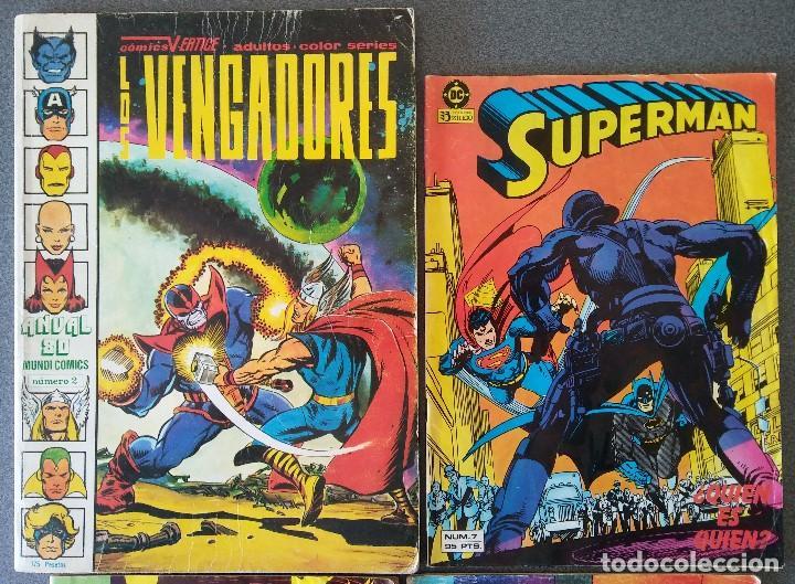 Cómics: Lote Comics Los Vengadores Superman Los Nuevos Mutantes La Cosa del Pantano - Foto 2 - 146235850