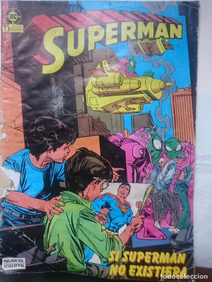 COMIC - SUPERMAN - N 15 - SI SUPERMAN NO EXISTIERA -ED. ZINCO -EN MAL ESTADO (Tebeos y Comics - Zinco - Superman)
