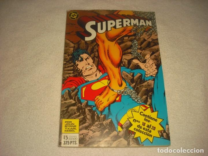 SUPERMAN TOMO 12 .RETAPADO, CONTIENE DE LOS NUMEROS 16 AL 20. DC,JOHN BYRNE. (Tebeos y Comics - Zinco - Superman)