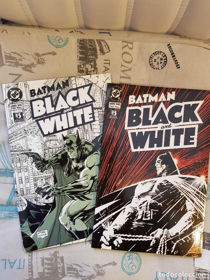 BATMAN BLACK AND WHITE 1 Y 2 (COMPLETA, ED. ZINCO, GAIMAN, MILLER, KUBERT, CORBEN...) (Comics und Tebeos - Zinco - Batman)