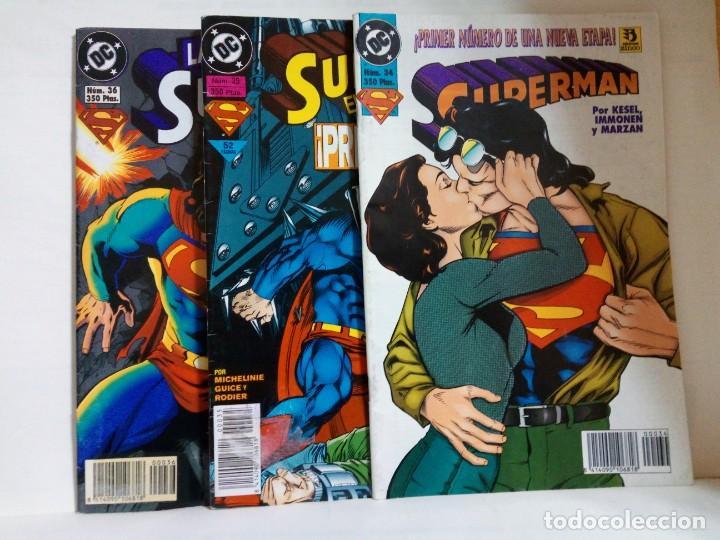 LOTE DE 3 EJEMPLARES DE SUPERMAN (Tebeos y Comics - Zinco - Superman)