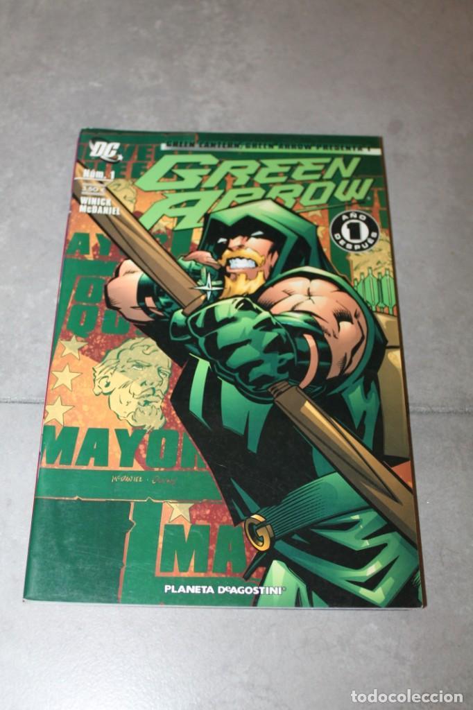 GREEN ARROW 1 AÑO DESPUES GREEN LANTERN GREEN ARROW PRESENTA 1 PLANETA (Tebeos y Comics - Zinco - Prestiges y Tomos)