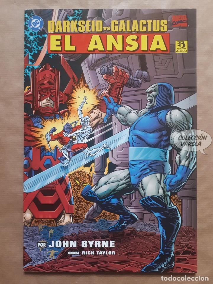 DARKSEID VS GALACTUS - EL ANSIA - ZINCO - JOHN BYRNE - MARVEL DC CROSSOVER - JMV (Tebeos y Comics - Zinco - Prestiges y Tomos)