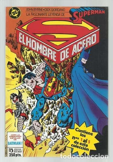 SUPERMAN, TOMO RETAPADO 1 A 5, 1987, ZINCO, MUY BUEN ESTADO (Tebeos y Comics - Zinco - Retapados)