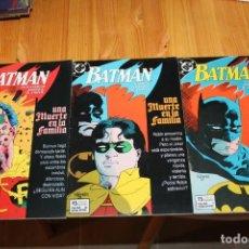 Cómics: BATMAN UNA MUERTE EN LA FAMILIA COMPLETA 1 2 Y 3 ZINCO. Lote 149546182
