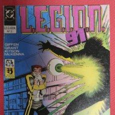 Cómics: LEGION 91. NÚMEROS 6 A 10. EDICIONES ZINCO. Lote 149762038