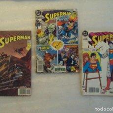 Cómics: 3 COMICS DE SUPERMAN, EDICIONES ZINCO, DC 1989-1990. Lote 150435054
