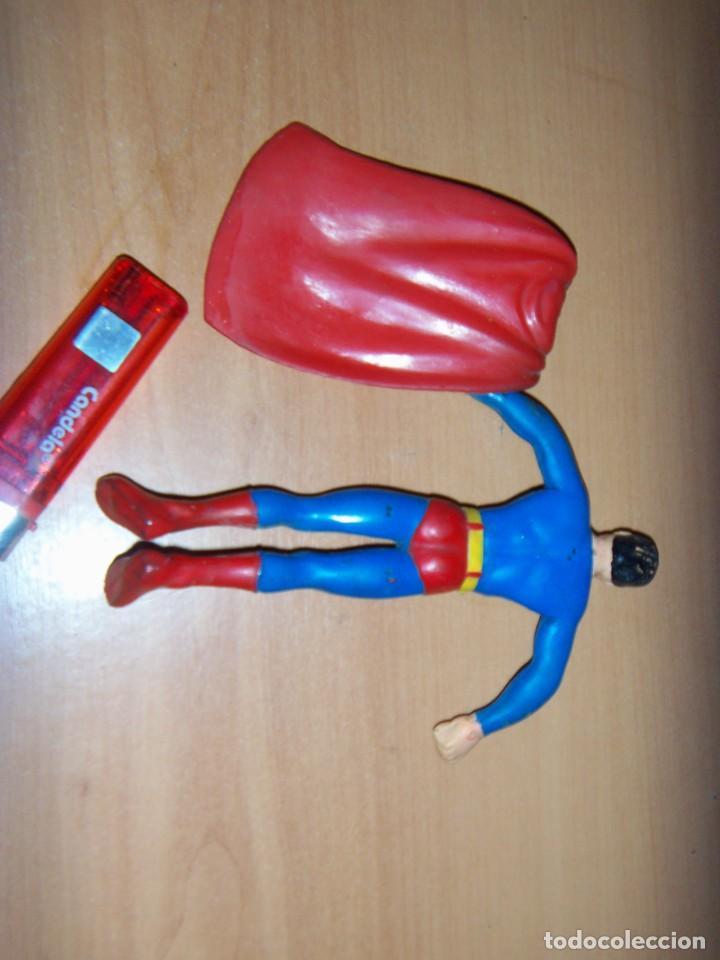 Cómics: FIGURA SUPERMAN GOMA Y ALAMBRE ARGENTINO 1979/80 18 CM APROX. VINTAGE - Foto 3 - 150848442