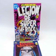 Cómics: CLASICOS DC 21 22. LEGIÓN DE SUPER HÉROES (VVAA) ZINCO, 1990. OFRT. Lote 151126437