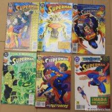 Cómics: SUPERMAN. LOTE NUMEROS 7-9-20-22 Y NUMERO EXTRA.. Lote 151231937