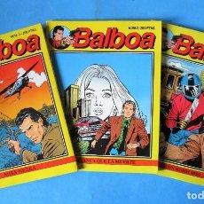Cómics: LOTE BALBOA NUMEROS 1 AL 3 - ''MUY BUEN ESTADO''. Lote 151613054