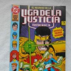 Cómics: EL REGRESO DE LA LIGA DE LA JUSTICIA. AMERICA. LIBRO 1. ZINCO. Lote 154765382