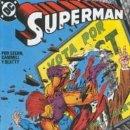 Cómics: SUPERMAN Nº 52.RAMPAGE¡SEGUNDO ASALTO!.EDICIONES ZINCO.1984.. Lote 159853550