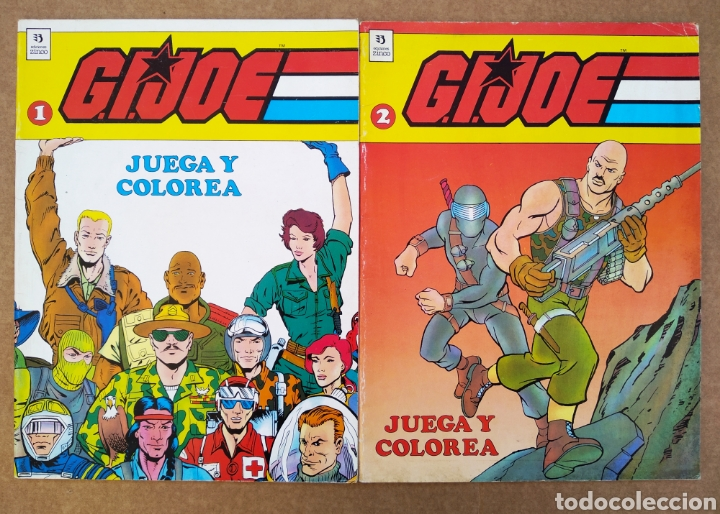 LOTE G.I.JOE/GIJOE JUEGA Y COLOREA: NÚMEROS 1 Y 2 (EDICIONES ZINCO, 1990). 36 PÁGINAS CADA EJEMPLAR. (Tebeos y Comics - Zinco - Otros)