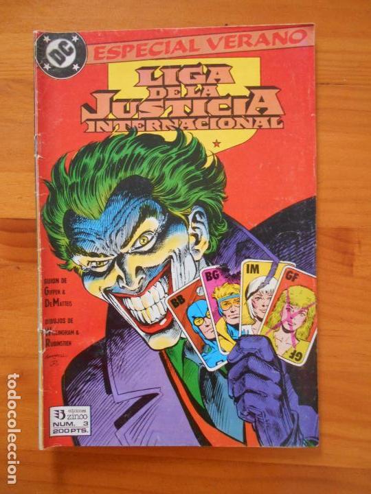 LIGA DE LA JUSTICIA INTERNACIONAL Nº 3 - ESPECIAL VERANO - DC - ZINCO (EZ) (Tebeos y Comics - Zinco - Liga de la Justicia)