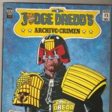 Cómics: JUEZ DREDD'S - ARCHIVO DEL CRIMEN - TOMO Nº 2 - EDITORIAL ZINCO - 1990 -. Lote 160597534