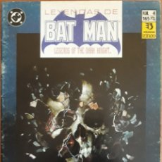 Cómics: COMIC N°4 LEYENDAS DE BATMAN 1990. Lote 160674509